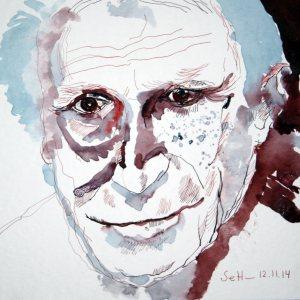 Meine Vorstellung von Reinhart Kosselleck (c) Zeichnung von Susanne Haun